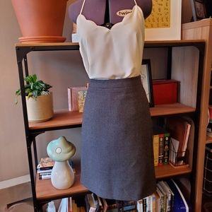 J Crew Charcoal Wool Pencil Skirt